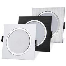 2,5 дюймов вниз светильник светодиодный 6 Вт 9 Вт 12 Вт 220 В натуральный белый квадрат Встраиваемая Светодиодная лампа Точечный светильник для гостиной фойе спальни кухни