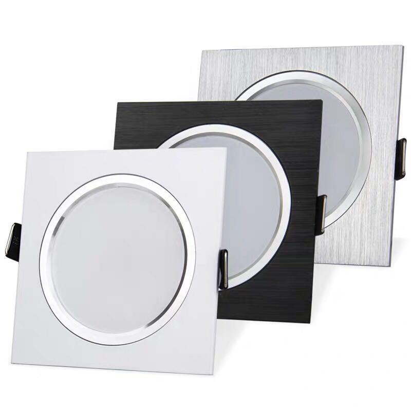 2.5inch Downlight LED 6w 9w 12w 220v Nature White Square Recessed LED Lamp Spot Light For Living Room Foyer Bedroom Kitchen