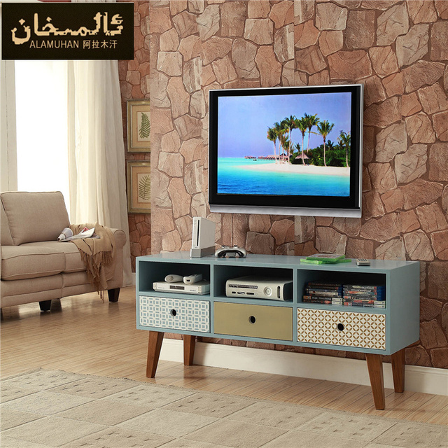 Solid Wood Tv Cabinet Side Cabinet Modern Small Apartment Living Room Tv  Set Cabinet Part 65