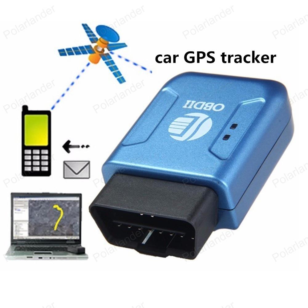 737831934591 Cheap Seguimiento dispositivo azul GPS lbs ubicación exacta TK206 GPRS  coche perseguidor OBDII interfaz geo cerca