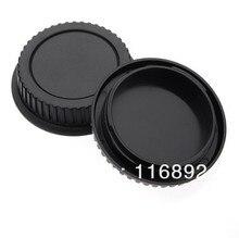 10 Đôi Camera Nắp Body + Sau Nắp Đậy Ống Kính Cho Canon 1000D 500D 550D 600D EF EF S Nổi Dậy T1i EOS camera