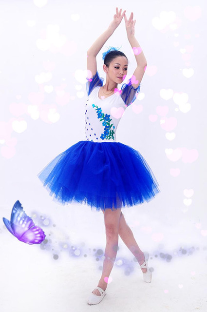 Flores A Medida Manga Corta Puffy Tutu Vestidos Ballet Skate Falda
