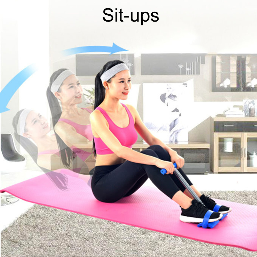 Tummy Trimmer Elastic Sit Up Pull Rope Spring Tension Foot Pedal Abdomen Leg Exerciser  Equipment Bodybuilding Home
