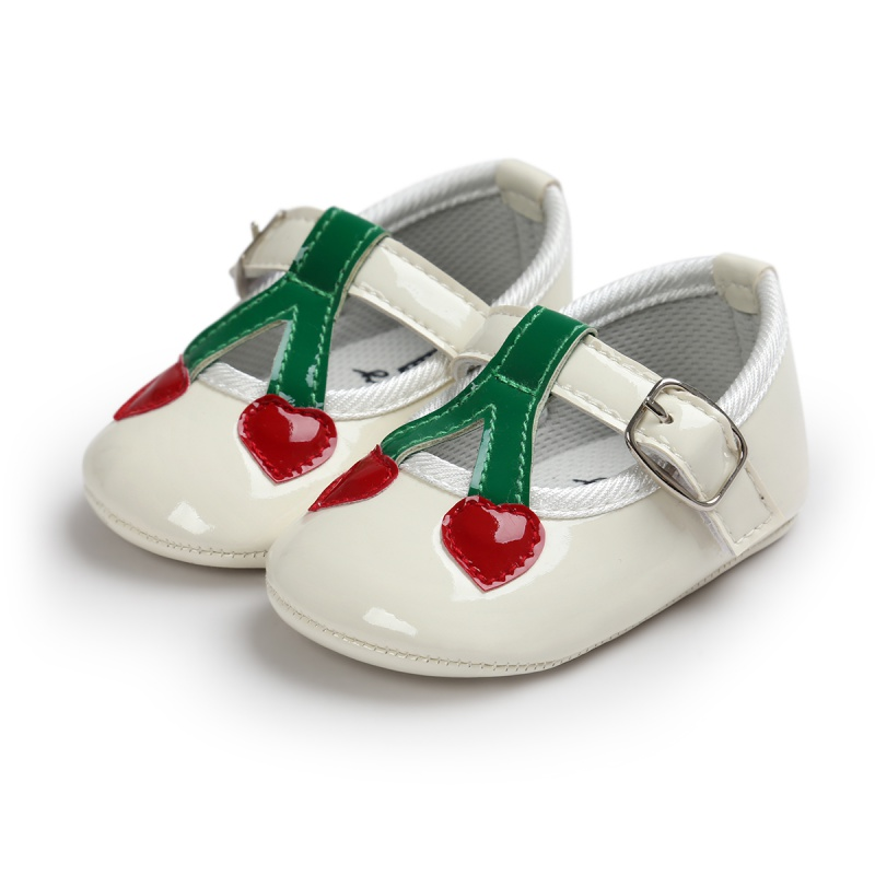 PU Leather Shoes Newborn Baby Girls Princess Babe First Walkers Heart-Shaped Prewalkers Soft Bottom Shoes