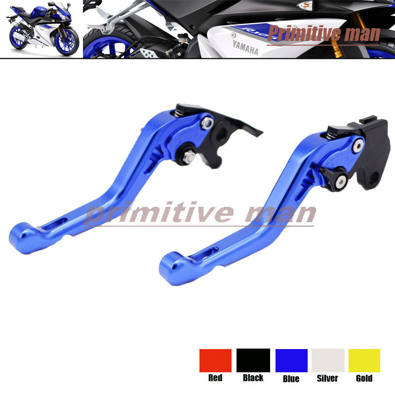 ФОТО For YAMAHA YZF R125 YZFR125 YZF-R125 2014-2015 Motorcycle Accessories Short Brake Clutch Levers Blue