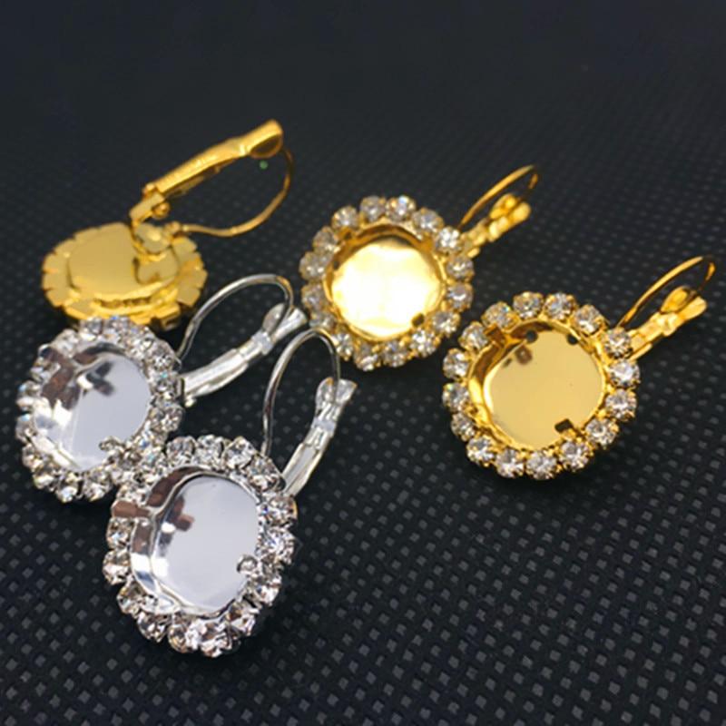 귀고리 쥬얼리 내부 12mm 귀걸이 찾기 빈 기본 발톱 맞는 4470 뚱뚱한 스퀘어 스톤-에서보석 재료 & 부속품부터 쥬얼리 및 액세서리 의  그룹 1