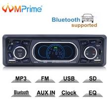 Amprime 1din 12 В Bluetooth Стерео FM радио MP3 аудио плеер 5 В Зарядное устройство USB SD AUX Авто Электроники Сабвуфер 1 DIN Авторадио
