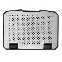 Два Вентилятор охлаждения ноутбуков колодки для MacBook Acer Dell Lenovo Asus HP 15 дюймов ноутбук 2 Порты USB алюминиевый охлаждения Pad стенд