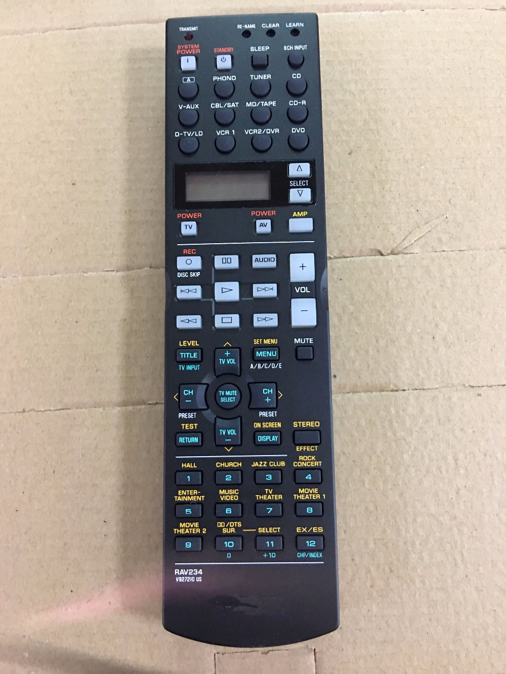 NEW Original RAV234 V927210 US Remote Control For YAMAHA theater AV Amplifier RX-V740 DSP-AX1300 DSP-AX740 HTR-5590 RX-V1200 цена