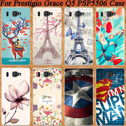 New Perfect Design Patterns Painting protect Back Cover Case For Prestigio Grace Q5 5506 PSP5506 DUO Phone Case Cover