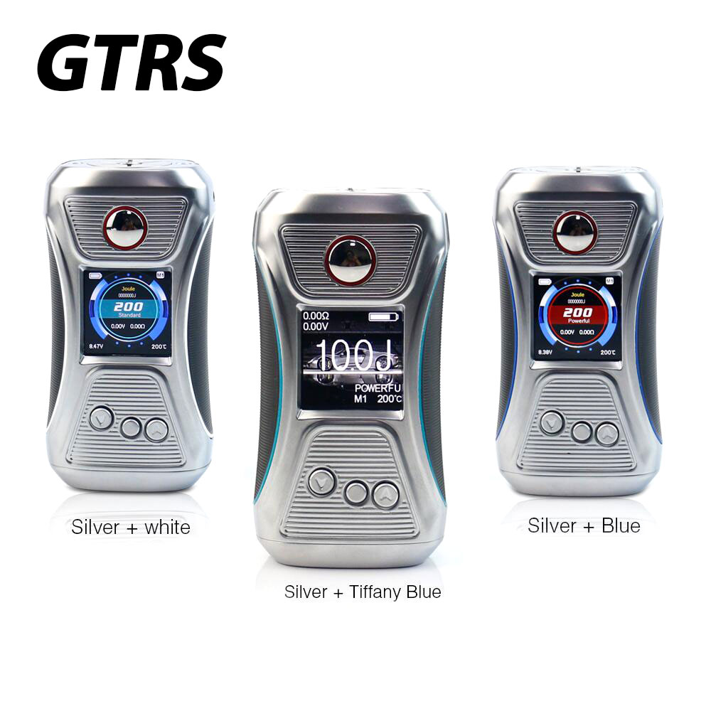100% Original GTRS VBOY TC Box MOD Body Color Silver/blue Edition with SX500 Chip & 200W Max Output Power E-cigarette Box Mod small cigarette box vending machine bjy b50 with light box