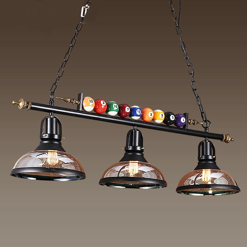 Retro Industry Billiard Pendant Lights Living Room
