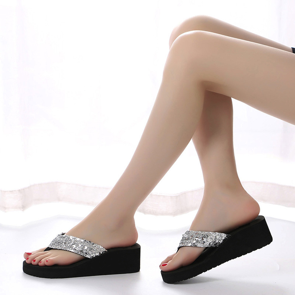 HTB19B94cSSD3KVjSZFKq6z10VXai Summer Women Flip Flops Casual Sequins Anti-Slip slippers Beach Flip Flat Sandals Beach Open Toe Shoes For Ladies Shoes #L5