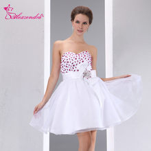 Alexzendra Sweetheart Mini White Short Prom Dresses Customize Special Party  Gowns 9dc2c3bf096d