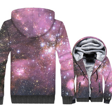 Space Galaxy 3D Print Hoodie Men Colorful Paisley Nebula Stars Sweatshirt Harajuku Coat Winter Thick Fleece Dreamlike Jacket 5XL