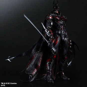 PLAY ARTS 27cm Batman : Arkham Knight Special Red Version Action Figure Model Toys 1