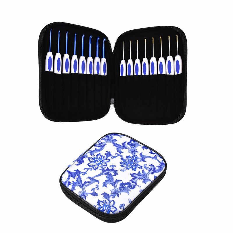KOKNIT 16 шт. набор крючков для вязания крючком в китайском стиле алюминиевый вплетать в пряжу Вязание иголки-Крючки женский домашний ткацкий инструмент для рукоделия с чехлом
