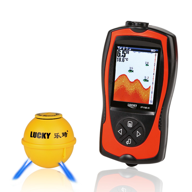 Lucky fish finder wireless echos sounder fishing English Russian menu deeper fishfinder lure fit for winter