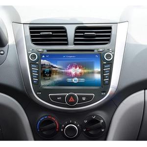 Image 2 - 2 din CAR DVD multimedia player for Hyundai Solaris accent Verna i25 autoradio GPS navigation stereo radio BT ipod USB port MAP