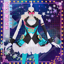 2019 VOCALOID Hatsune Miku Cosplay Costume MAGICAL MIRAI Cos Dress lovely full sets
