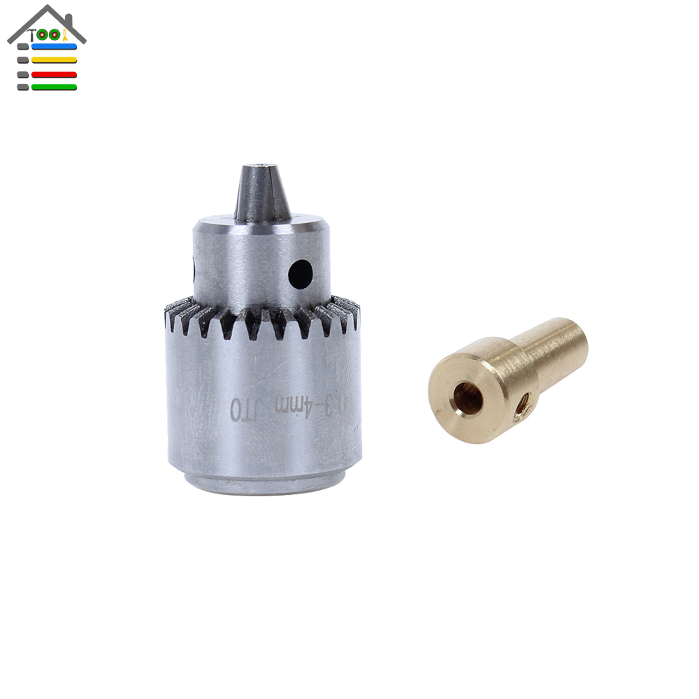 Mini Electric Drill Chuck 0.3-4mm JTO Taper Mounted Lathe Chuck PCB Mini Drill Press For 3.17 Motor Shaft Connecting Rod autotoolhome mini dc 12v electric motor for wood pcb hand drill press drilling 0 5 3mm twist bits and jto chucks bracket stand