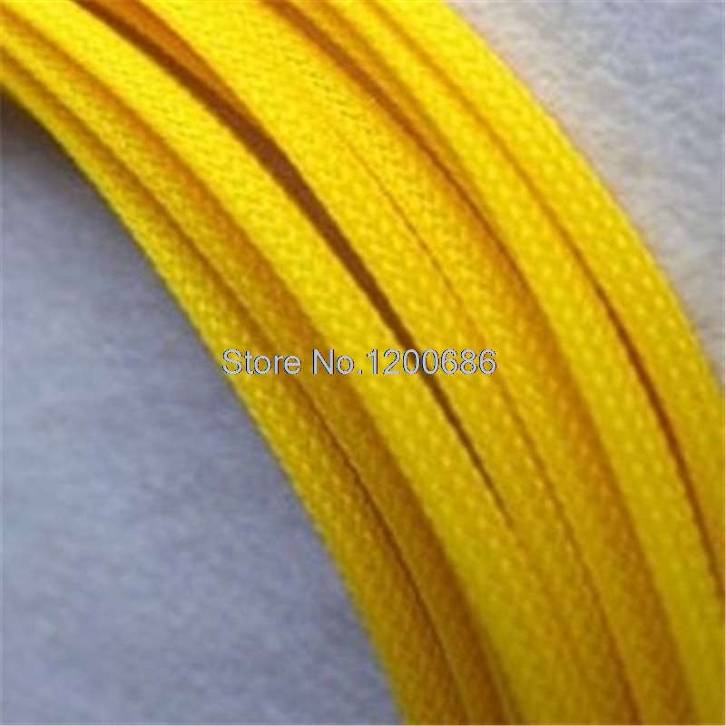 10M 8MM Braided Expandable Cable Sleeve Tight PET High Density Wire Sleeve Sheathing PC Cable Organizer Wire Cable Protection