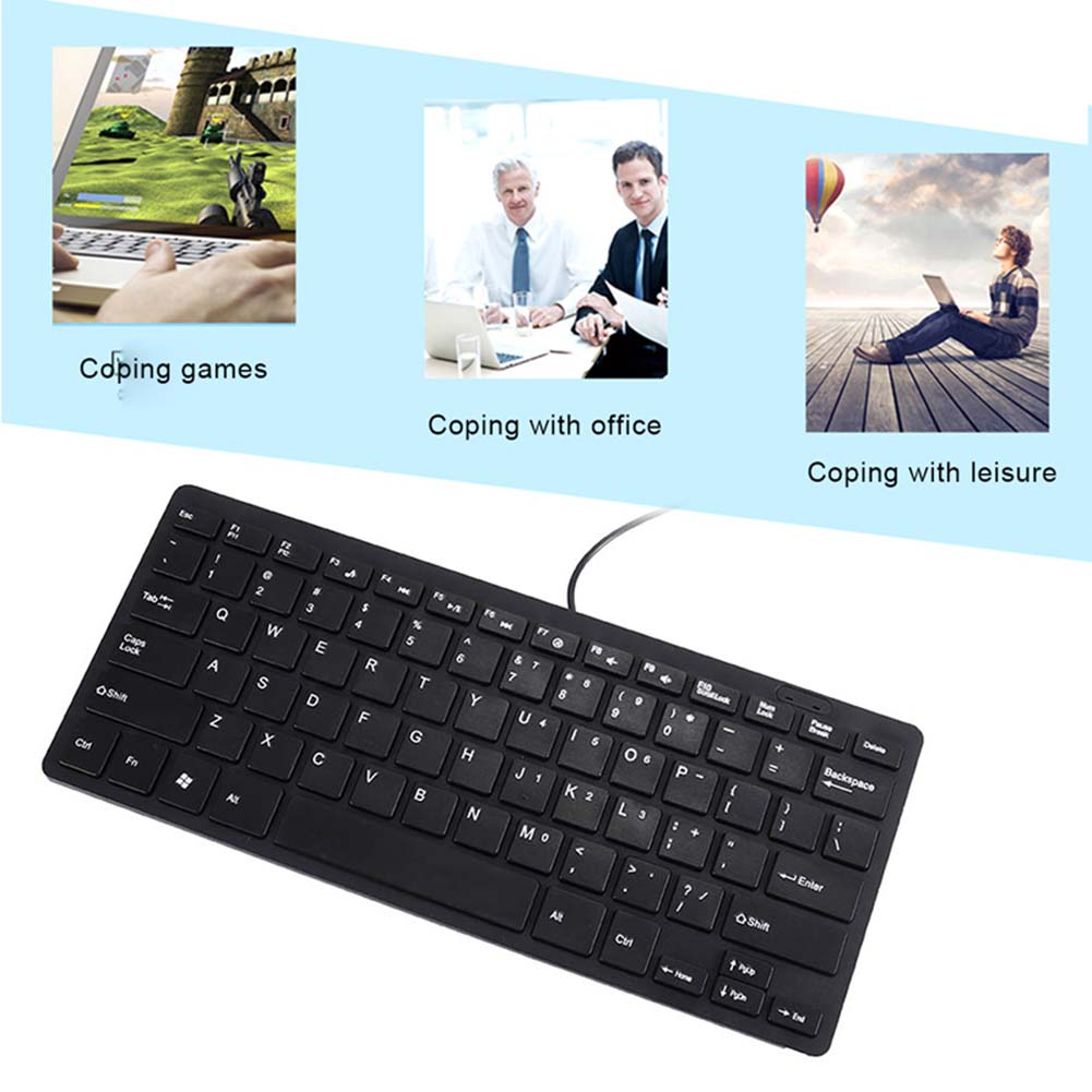 ultra thin quiet small wired keyboard mini multimedia usb keyboards for laptop pc computer sl 88. Black Bedroom Furniture Sets. Home Design Ideas