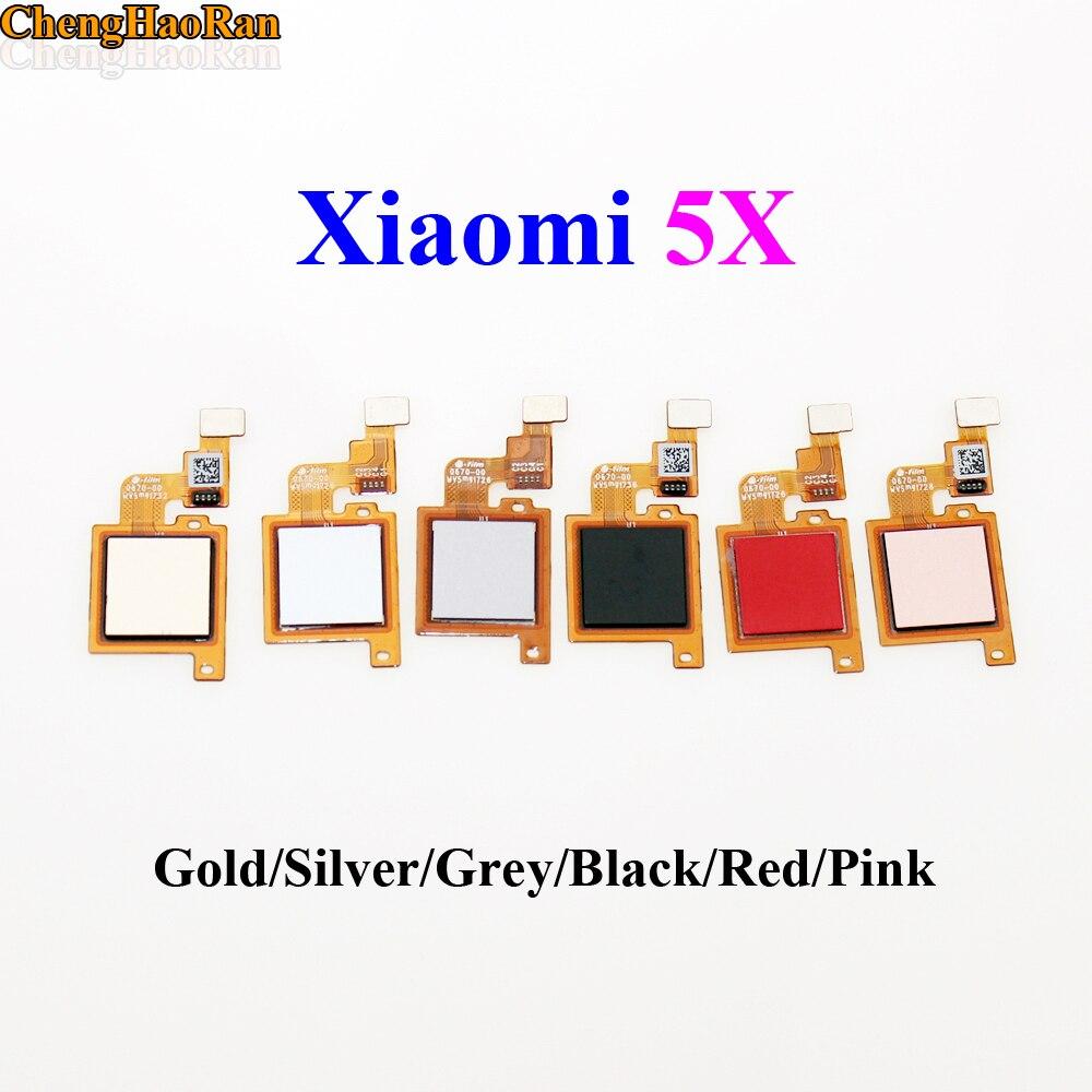ChengHaoRan Fingerprint Scanner for Xiaomi Mi A1 Mi 5X Touch Sensor ID Home Button Return Assembly Flex Cable Ribbon Replacement