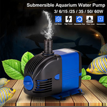 Water Pump Fish Tank  Submersible Aquarium Powerhead Fountain Hydroponic US Plug Ponds Aquariums Adjust 5/14/20/35/45/80W