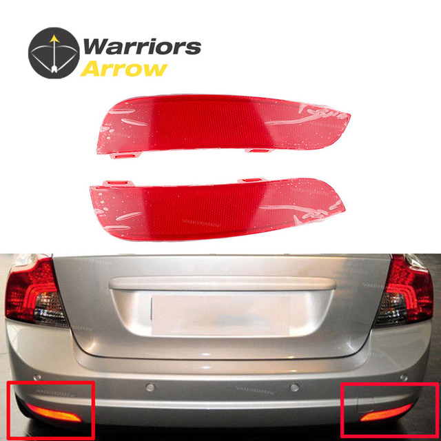 Us 40 37 30763345 30763346 For Volvo S40 V50 2008 2009 2010 2011 2012 2014 Pair Red Rear Bumper Reflector Lamp Light Lens Left Right In Bumpers From