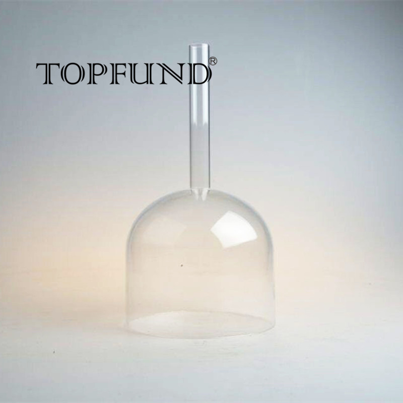 TOPFUND Chakra Hollow Handle Clear Crystal Singing Bowl 8'',CDEFGAB O ring and Mallet included,For Meditation