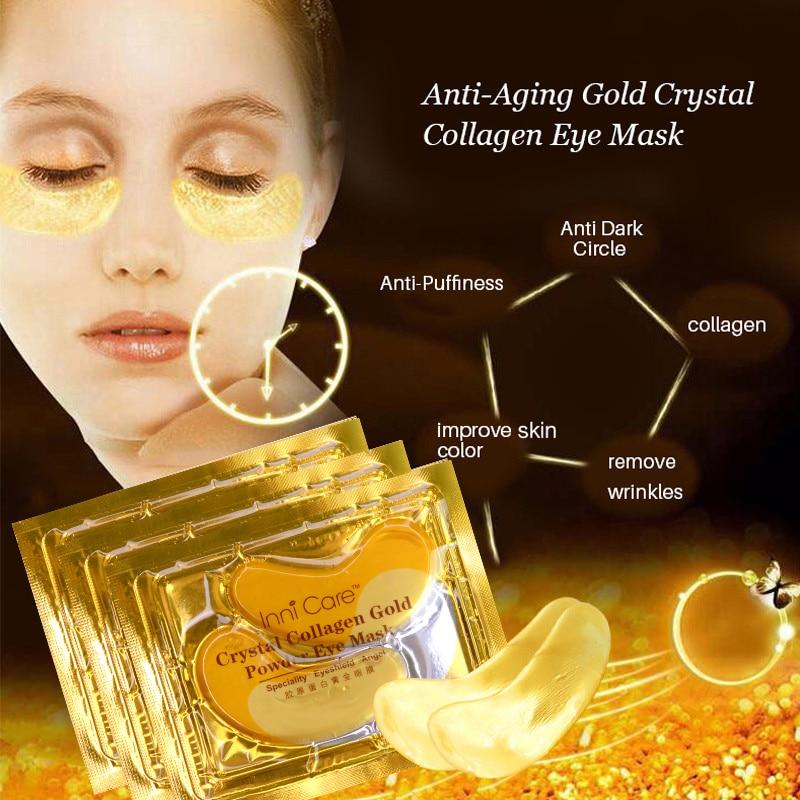 40pcs polvo de colágeno de cristal natural oro máscara de ojos - Cuidado de la piel - foto 3