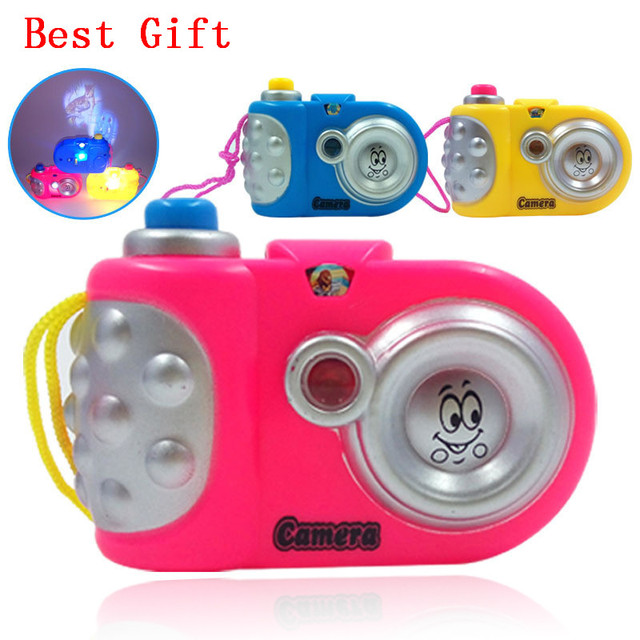 Newest Cartoon Camera Toy Projection Nursery Toys Children Educational Baby Gift Brinquedos
