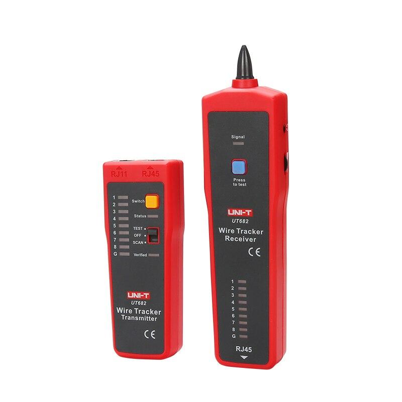 UNI-T UT682 testeur de fil réseau Tracker RJ11 RJ45 multifonctionnel Intelligent trouveur prise de main câble ligne testeur réseau garder