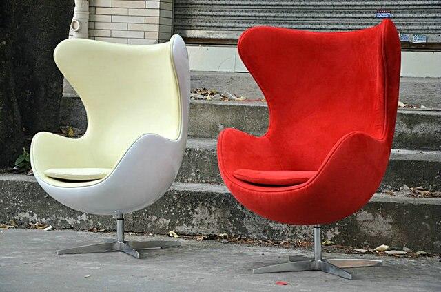 fiberglass egg chair leisure chair leather chair fiberglass shell