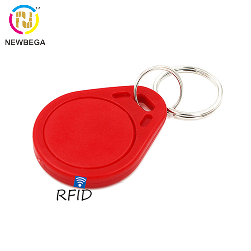 10PCS RFID TK4100/EM4100 AK003 125KHz ID Keyfob Keychain With 10-digit Laser Code For Access Control Card Tag Key Free Shipping
