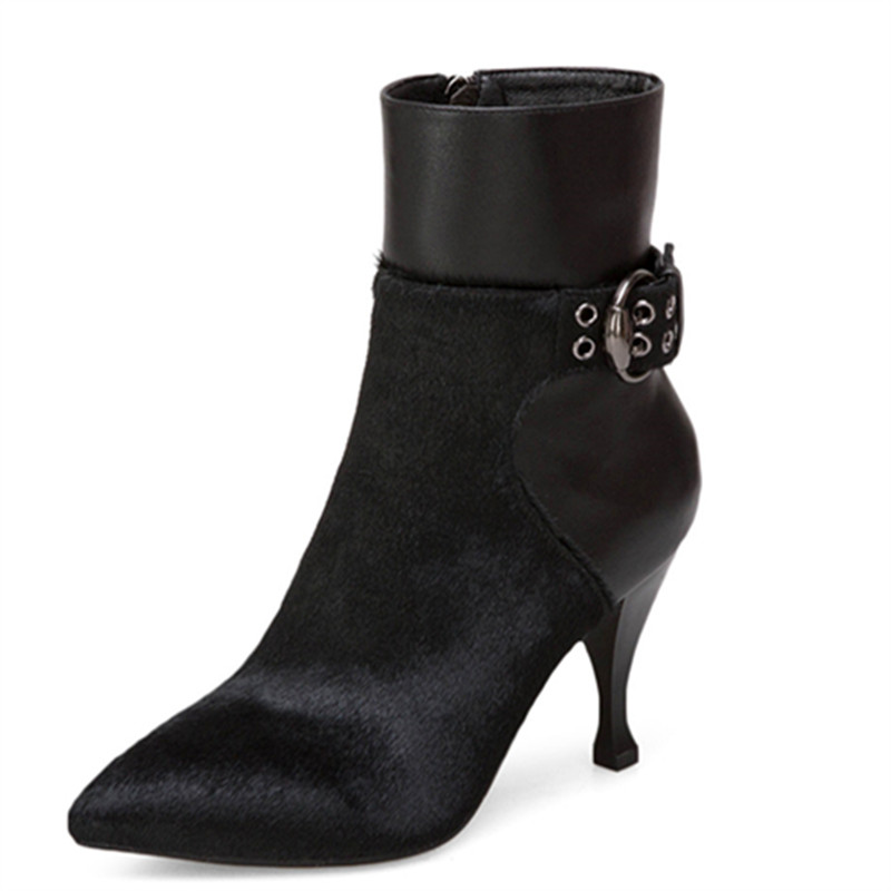 LOVEXSS Woman Autumn Winter Platform Ankle Boots Fashion Plus Size 33 43 Martin Boots Black Brown High Heeled Shoes lovexss woman genuine leather ankle boots autumn winter high heeled shoes fashion plus size 32 43 black work chelsea boots