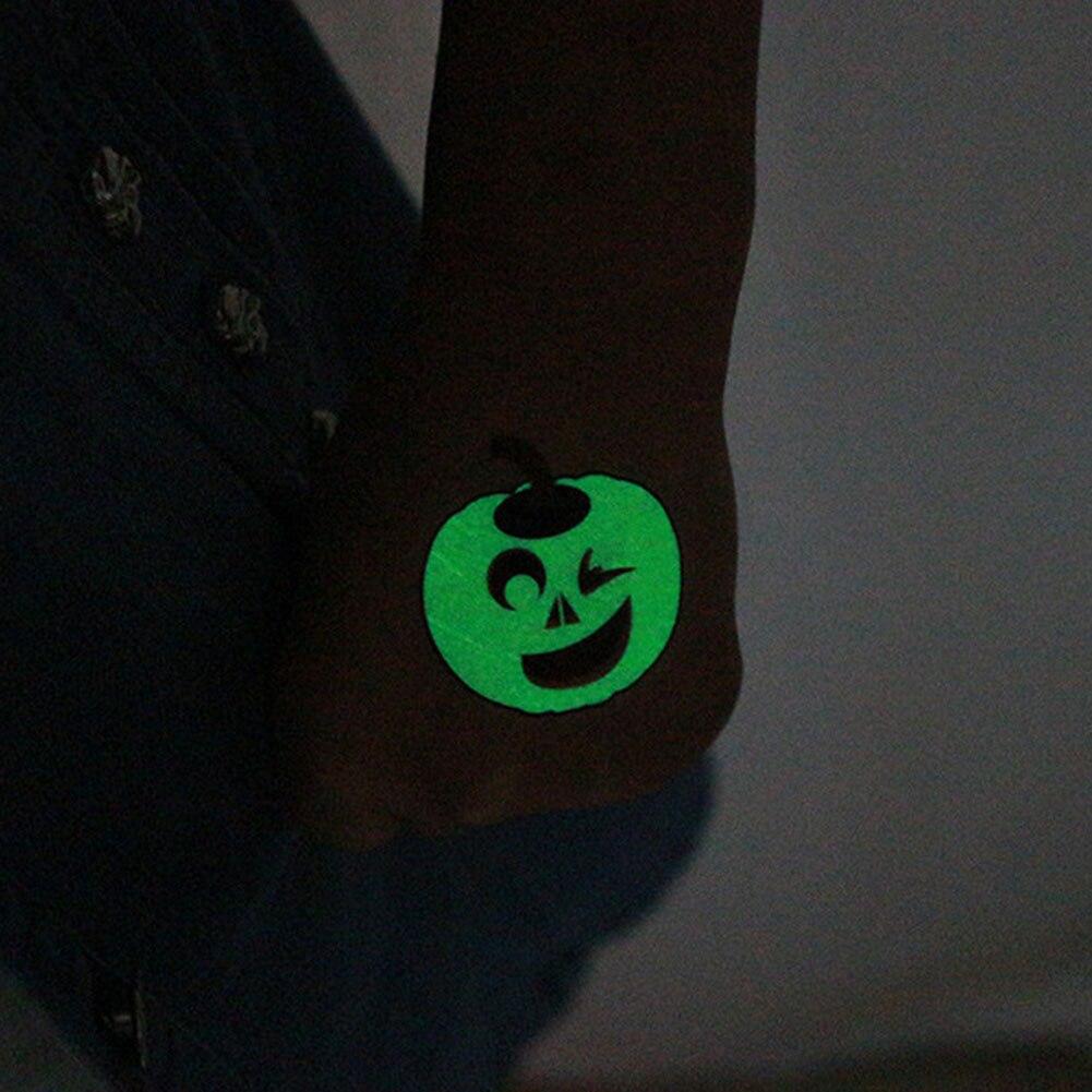 2pack Cartoon Halloween Glow Tattoos Sticker 1
