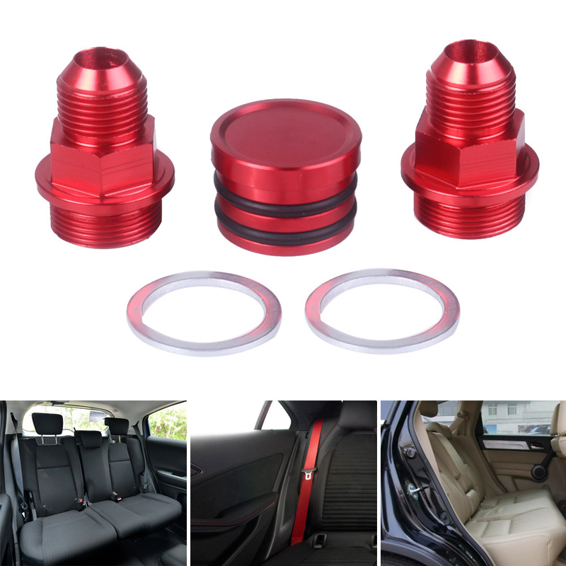 Rear Block Breather Fittings Plug Compatible For Honda B16 B18C M28 To 10AN NR-shipping