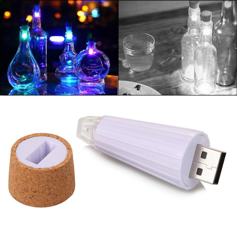 Cork Shaped USB Rechargeable LED Night Light Super Bright Empty Wine Bottle Lamp for Party Christmas Wedding Decoration vasos sanitários coloridos
