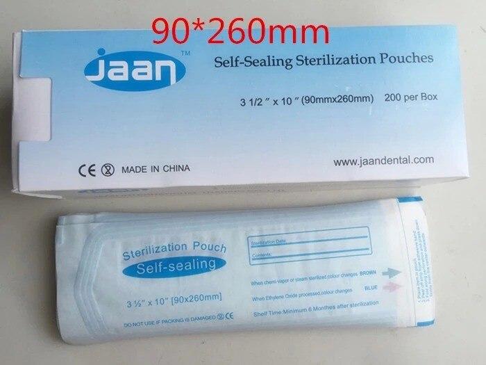 90 * 260mm 치과 자궁 씰 멸균 주머니 의료 가방 멸균 - 구강 위생