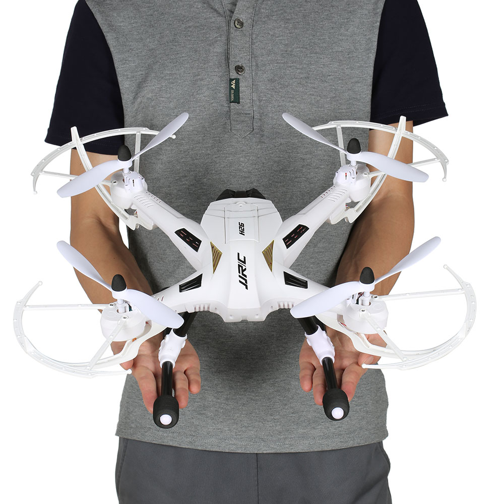 Original JJRC H26 2.4GHz 4CH 6-axis Gyro Drone without Camera RC Quadrocopter with One Key Return CF Mode 360 Eversion with more battery original jjrc h12c drone 6 axis 4ch headless mode one key return rc quadcopter with 5mp camera in stock