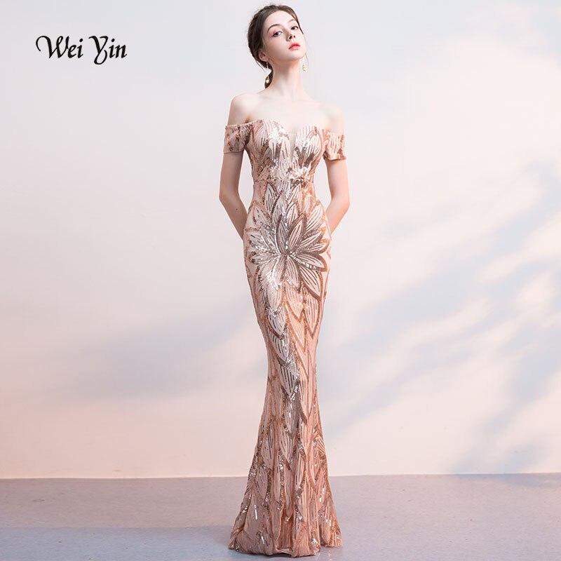 09e2141df3eb2 Aliexpress.com : Buy weiyin Gold Muslim Evening Dresses 2019 Mermaid ...