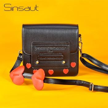Sinsaut Brand Hot Sale Bags for Women 2018 Women Handbags Fashion Shoulder Bag Lady Messenger Bag Sweet Heart Preppy Flap