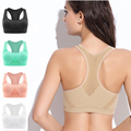 VEAMORS Women Seamless Padded Sports Bra,Gym Fitness Absorb Sweat Tank Tops, Shockproof Yoga Running Bras Tops Athletic Vest