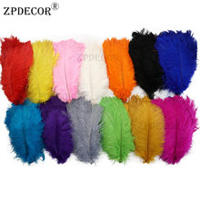 30-35 CM Ostrich Feathers For Craft Wedding Party Supplies Carnival Dancer Decoration plumas(China)