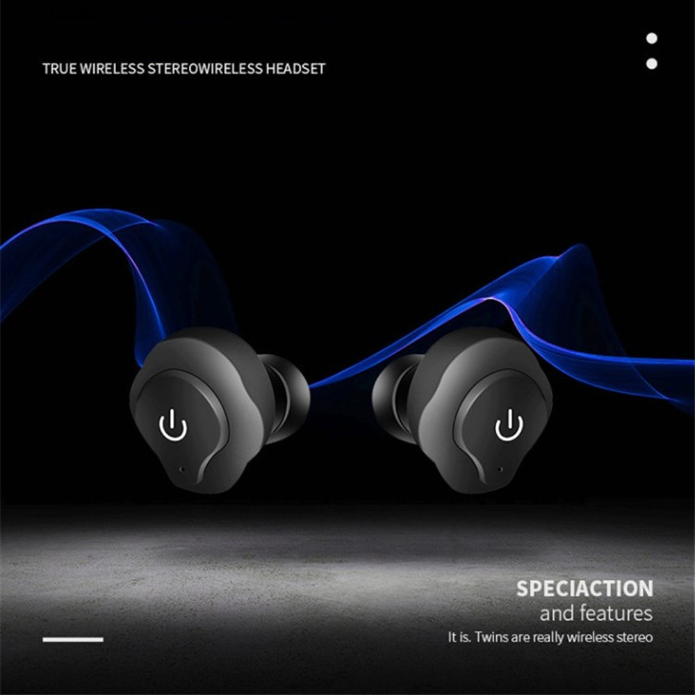 toopoot Mini TWS Twins Wireless In-Ear Stereo Sports Bluetooth Earphones Earbuds Headset  for Cellphones MP3 PC Drop Shipping