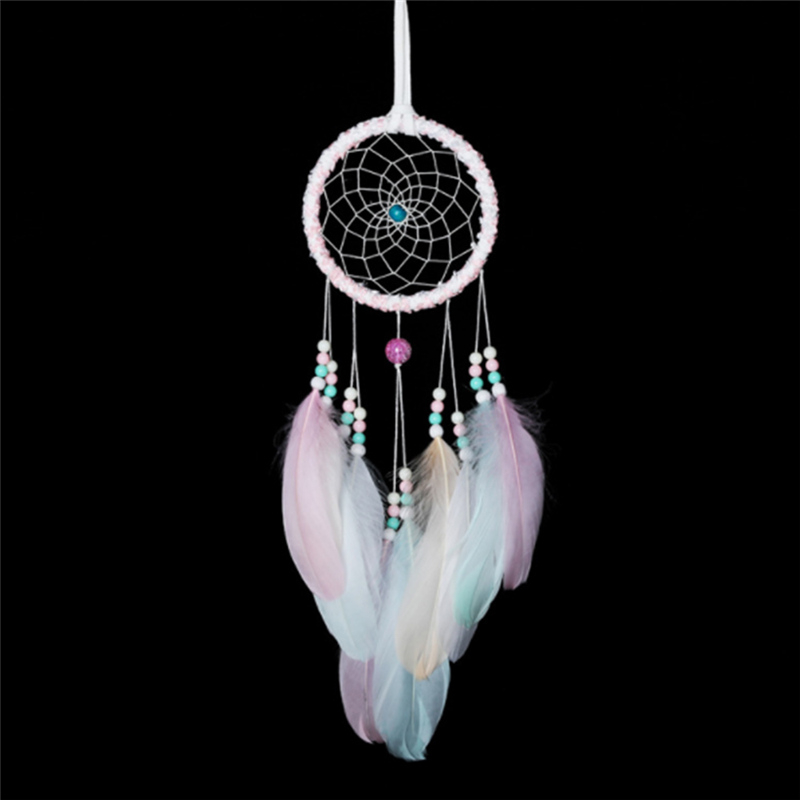 Colorful Ring Hoops Features Dream Catchers Hanging Dream Catcher Girls Room Affiche Decoration Hair Accessories Gift Wind Sling