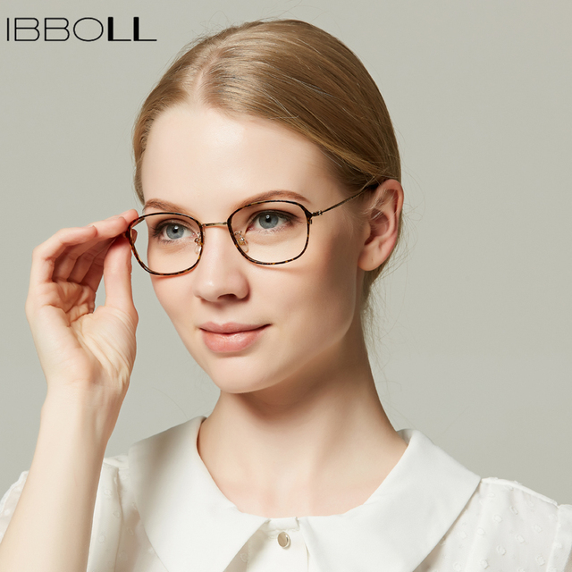 f44cdb11759 ibboll Vintage Metal Optical Glasses Frame Women Square Eyeglasses Frames  for Men Transparent Eyewear Unisex Male