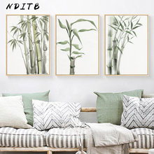 Watercolor Bamboo Zen Wall Poster Chinese Style Modern Canvas Botanical Print Painting Contemporary Art Picture Home Room Decor(China)